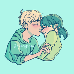 nose kiss by Clovercard