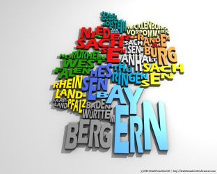 Germany Typography Map by DeathFromAbove86