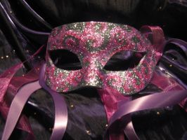 Purple+Pink Swirls Mask by ToTheMask