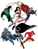 How To Draw DC Heroes - Justice League by TimLevins