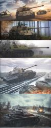 Commissioned Tank artworks part 2 by rOEN911