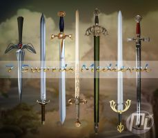 Swords Medieval PSD by MLauviah