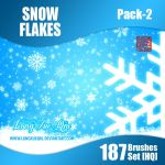 Winter Snow Flake 187 Brush Set Pack 2 HQ - PROMO! by lungxueqiu