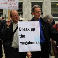 Protest the Banks: Peter Tatchell showing support. by LouHartphotography