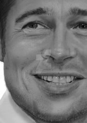 BRAD PITT DETAIL by commando-kev