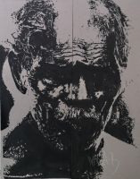Ink portrait of an old man by Ivana-B