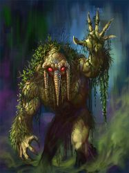 Day 10 13 NoH Man-Thing by Grimbro