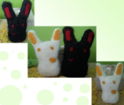 Felted Bunnies by iRabid