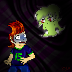 Freaking Out .:Commission:. by xBrokenIllusionx