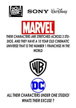Why hasn't DC toped Marvel by JMK-Prime
