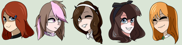 [Art Trade] 5 Diff. Ocs from 5 Diff Fandoms by xxSactaviaxx