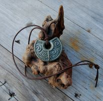 Earth Spirals Carved Pendant by Wyrdhaven