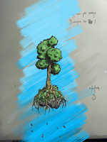Tree in progress - (new cintiq warmup) by Sylvainhibou
