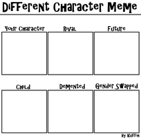Different Character Meme by KuffinsUniverse