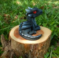 Black Eathen Fire Dragon by DragonCid