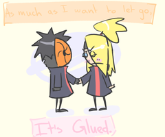 Glued by heartlesstheif