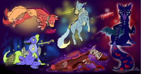 Some FREE foxes ADOPTABLES. CLOSED. by JoyaChannel