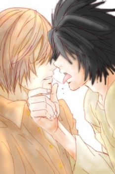 deathnote: l and light by saiyan-chan