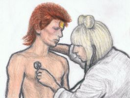 Ziggy Stardust seeing Doctor Gaga by gagambo