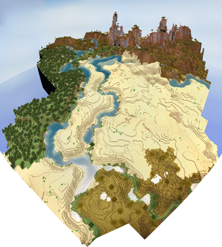 Desert Rivers by MinecraftPhotography