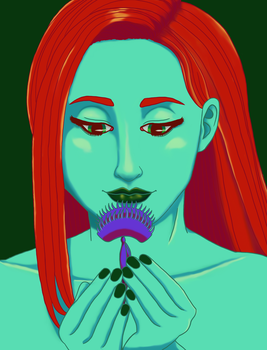 Poison Ivy with Venus Fly Trap by Tailzie