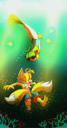 Cosmo and Tails. by Cheroy