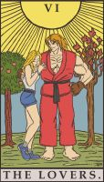 Street Fighter Tarot - The Lovers by SayIanIanIan