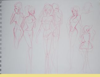 Rosario+Gaga concept sketches by DarkLightOfKario
