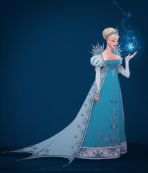 It looks like I'm the queen (ice gown) by shoomlah