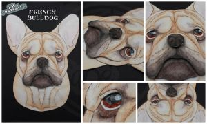 3D - Portraits: French Bulldog by SaQe