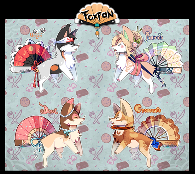 Food themed foxfans CLOSED! by Belliko-art