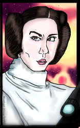 princess leia by monthgirl