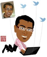 Caricature - my colleague V by Lord-Yoda