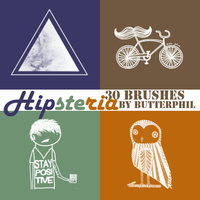 Hipsteria 30 brushes by Butterphil