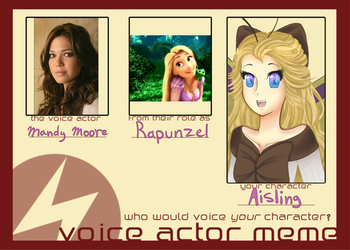 Voice actor meme Aisling by Foxuuu