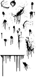 splatter brushes, flat file by r0tterz