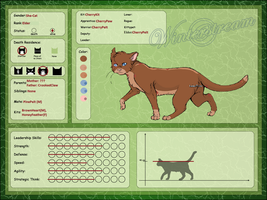 Refrence Sheet: CherryPelt by Oakstormftw