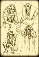 Tales of Arthea - Male Protagonists' Sketch by NikySHouse