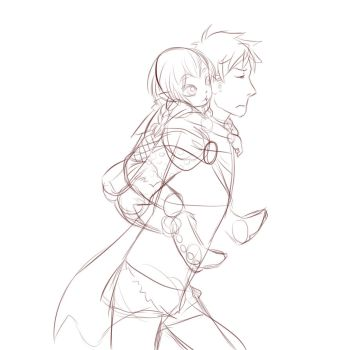 Piggy back sketch by Beanystryker