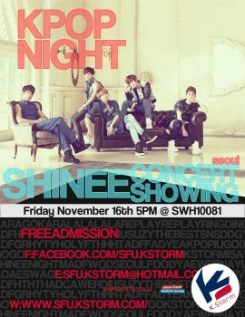 KPOPNIGHT-SHINEECONCERT Poster by UberzErO