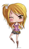 Fairy Tail - Chibi Lucy by virro-d