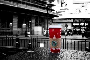 Starbucks glass by aether2b