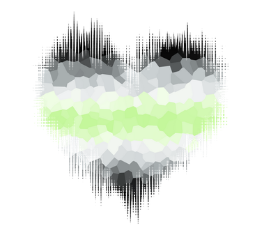 Agender Glitch Heart by Pride-Flags