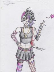 Cassandra (colored emo girl part 2) by smaugthegreat108