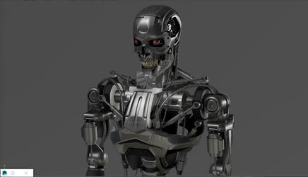 updated terminator model t-800 by escapeartist187