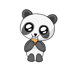 Panda with Cookie for Qezna by Bob500000