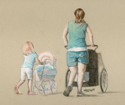 Baby Carriage Brigade by mbeckett