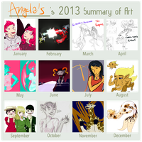 2013 Art Summary by Orangelargh