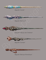 Some Wands in Harry Potter Style #4 by MissDesign33
