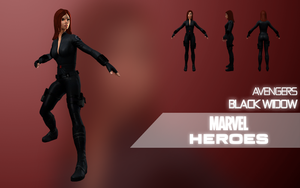 Marvel Heroes: Black Widow (Avengers) by Citrus07